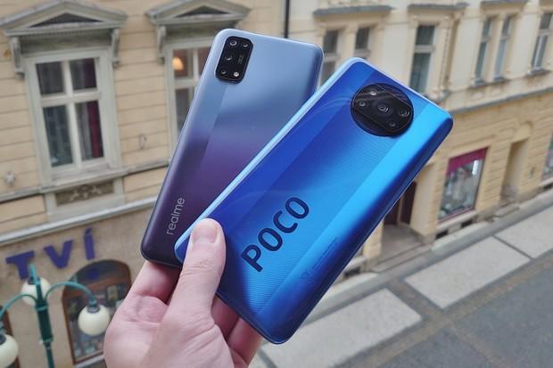 Kdo s koho: nabije se dříve Poco X3 NFC, nebo Realme 7 5G?