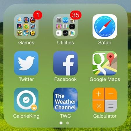 iOS 7 složky