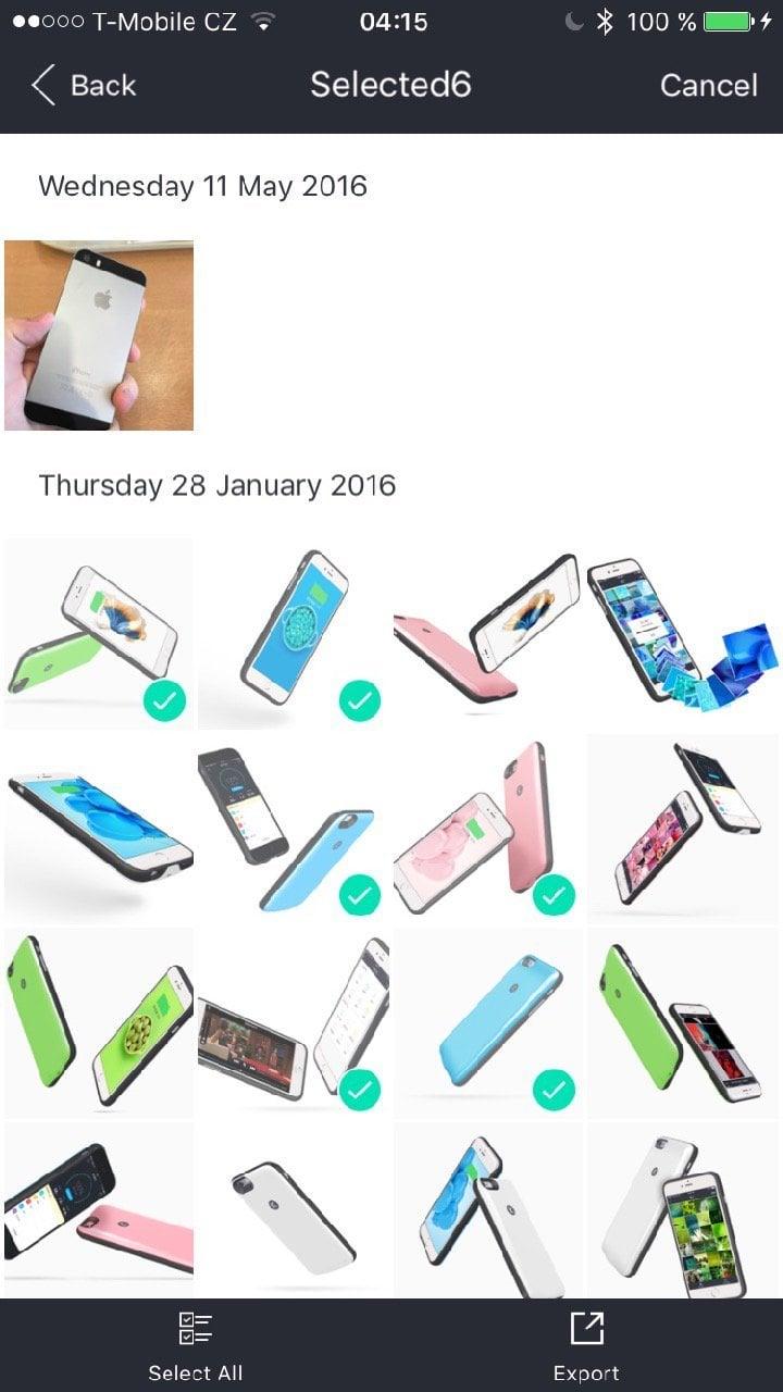KUKE nabíjecí pouzdro pro iPhone 6s - aplikace