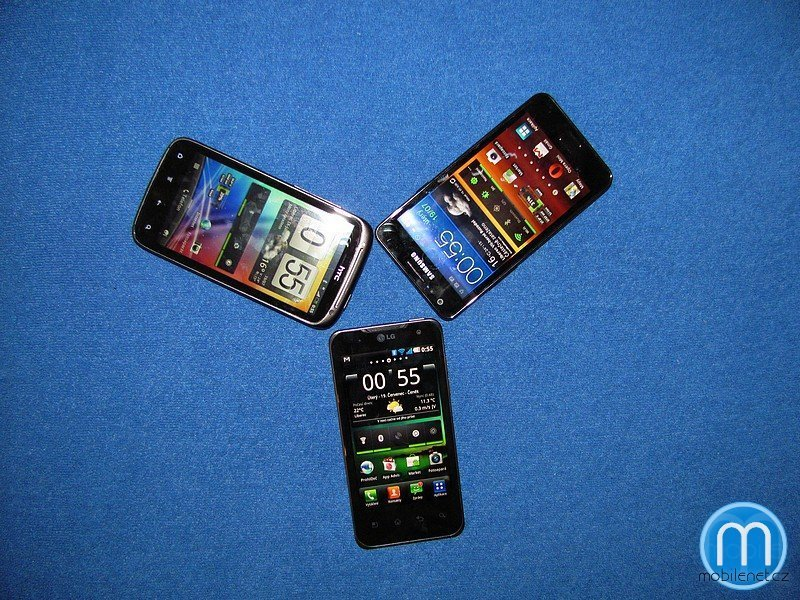 LG Optimus 2X, HTC Sensation, Samsung Galaxy S II