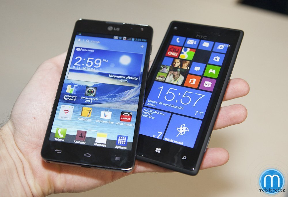 LG Optimus G vs. HTC 8X