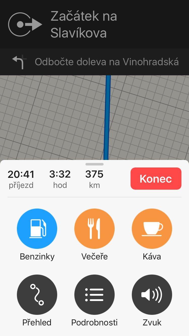 Mapy iOS 10