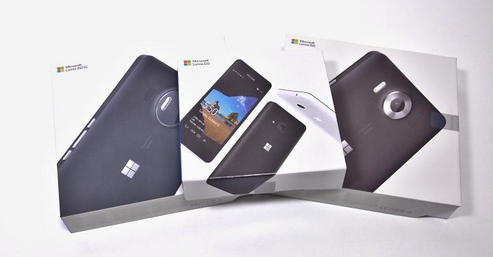 Microsoft Lumia 550, 950 a 950  XL