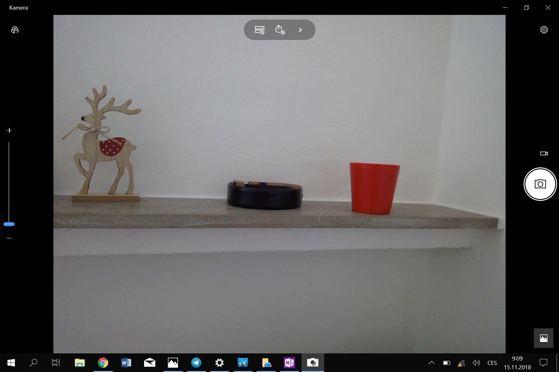 Microsoft Surface Go prostředí fotoaparátu