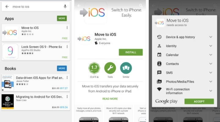 Move to iOS Google Play Store