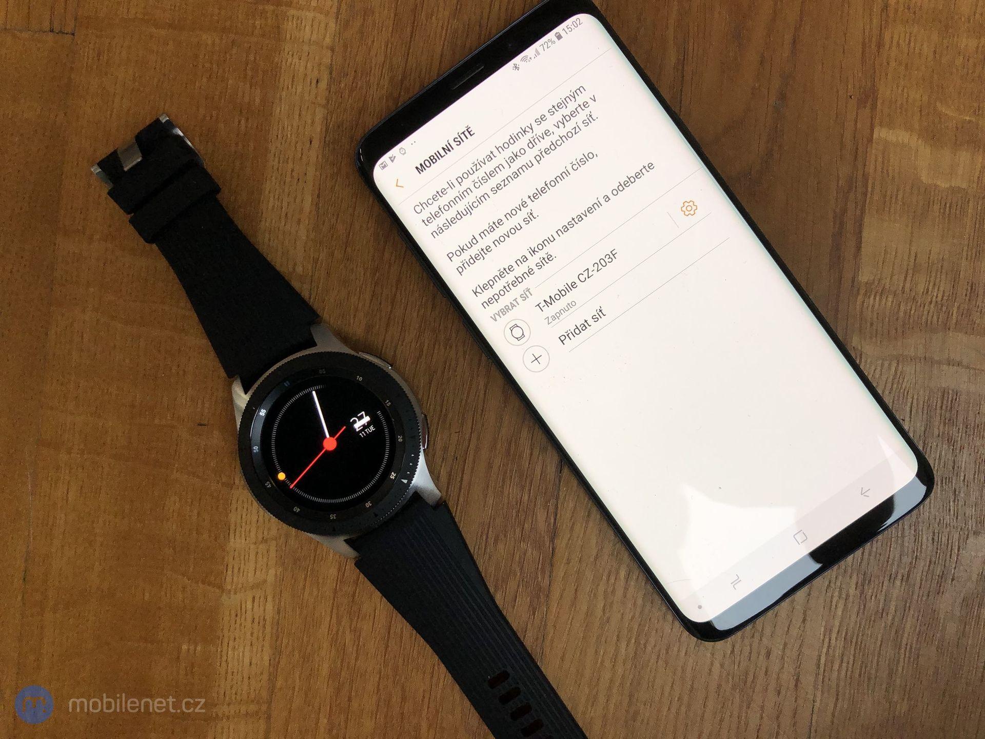 Nastavení eSIM na Galaxy Watch LTE