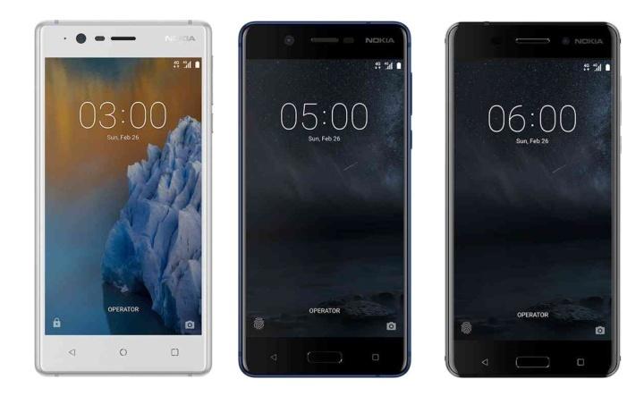 Nokia 3, 5 a 6