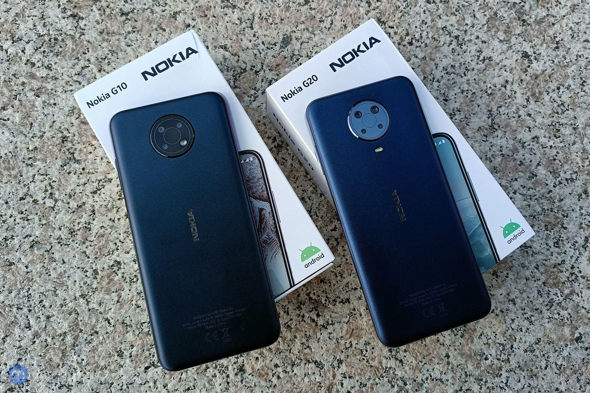 Nokia G10 a Nokia G20