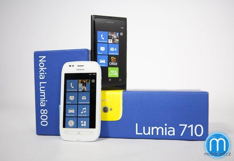 Nokia Lumia 710 a Nokia Lumia 800