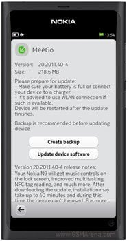 Nokia N9  update