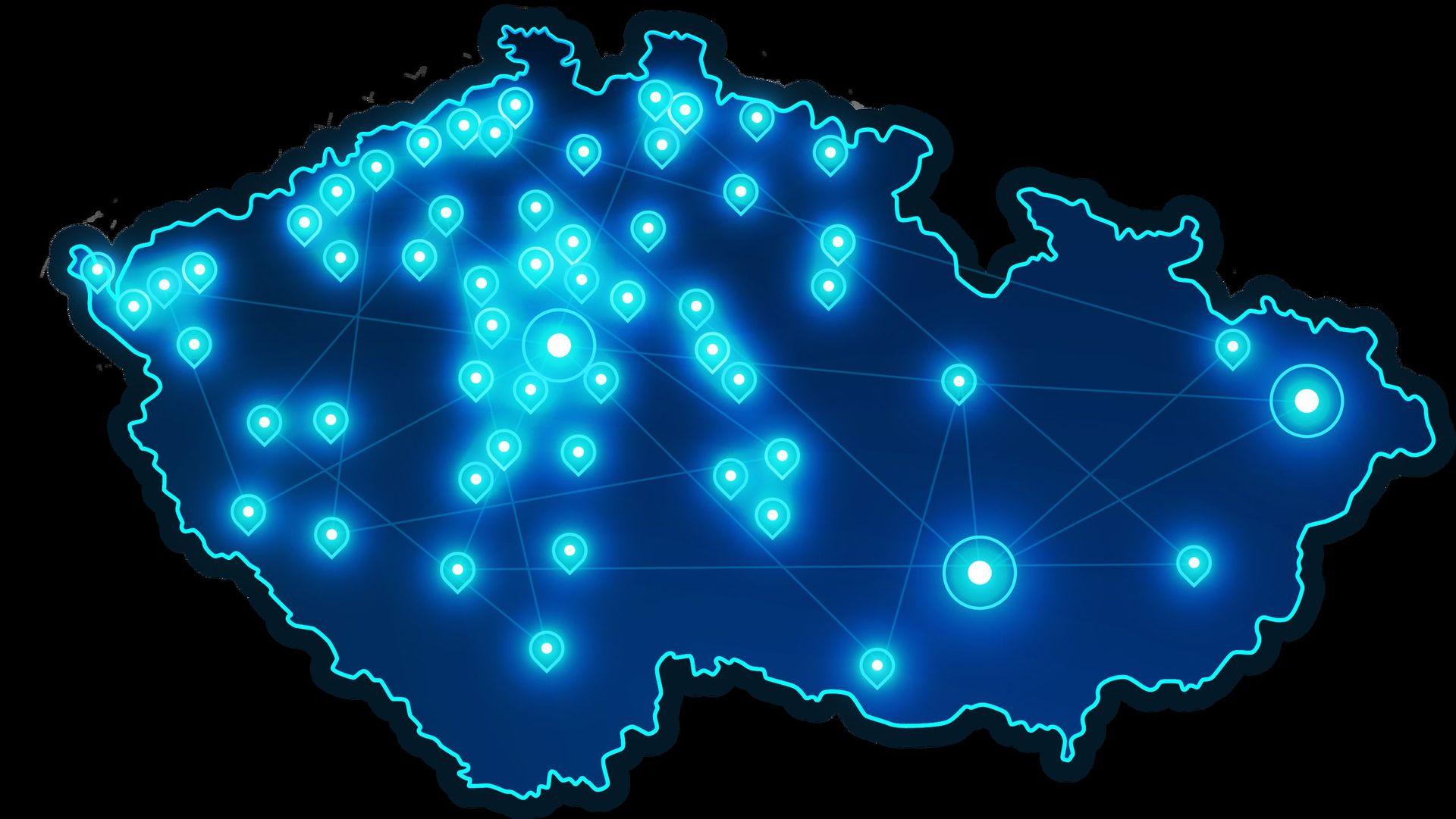 O2 pokrytí 5G v ČR v červnu
