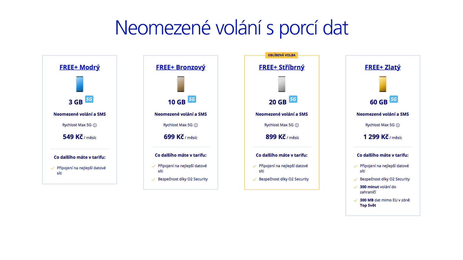 O2 tarify FREE+