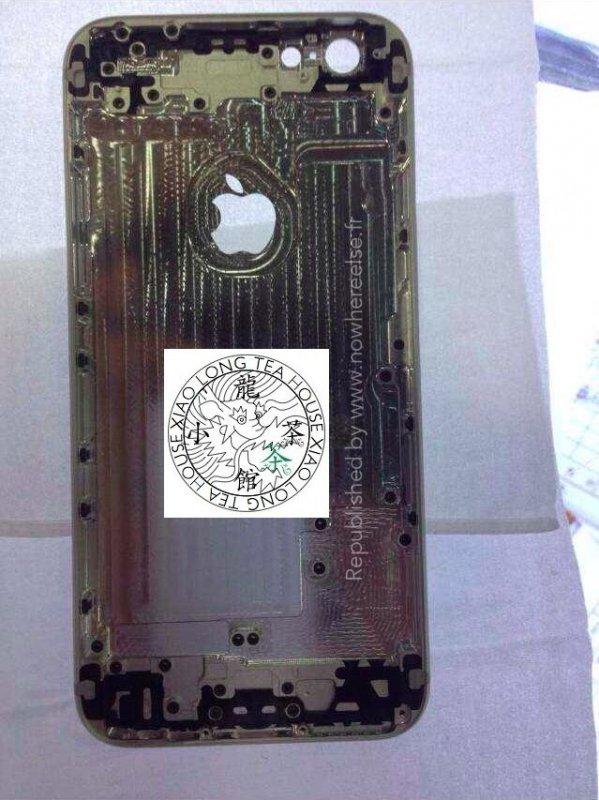 přední strana šasi údajného iPhonu 6