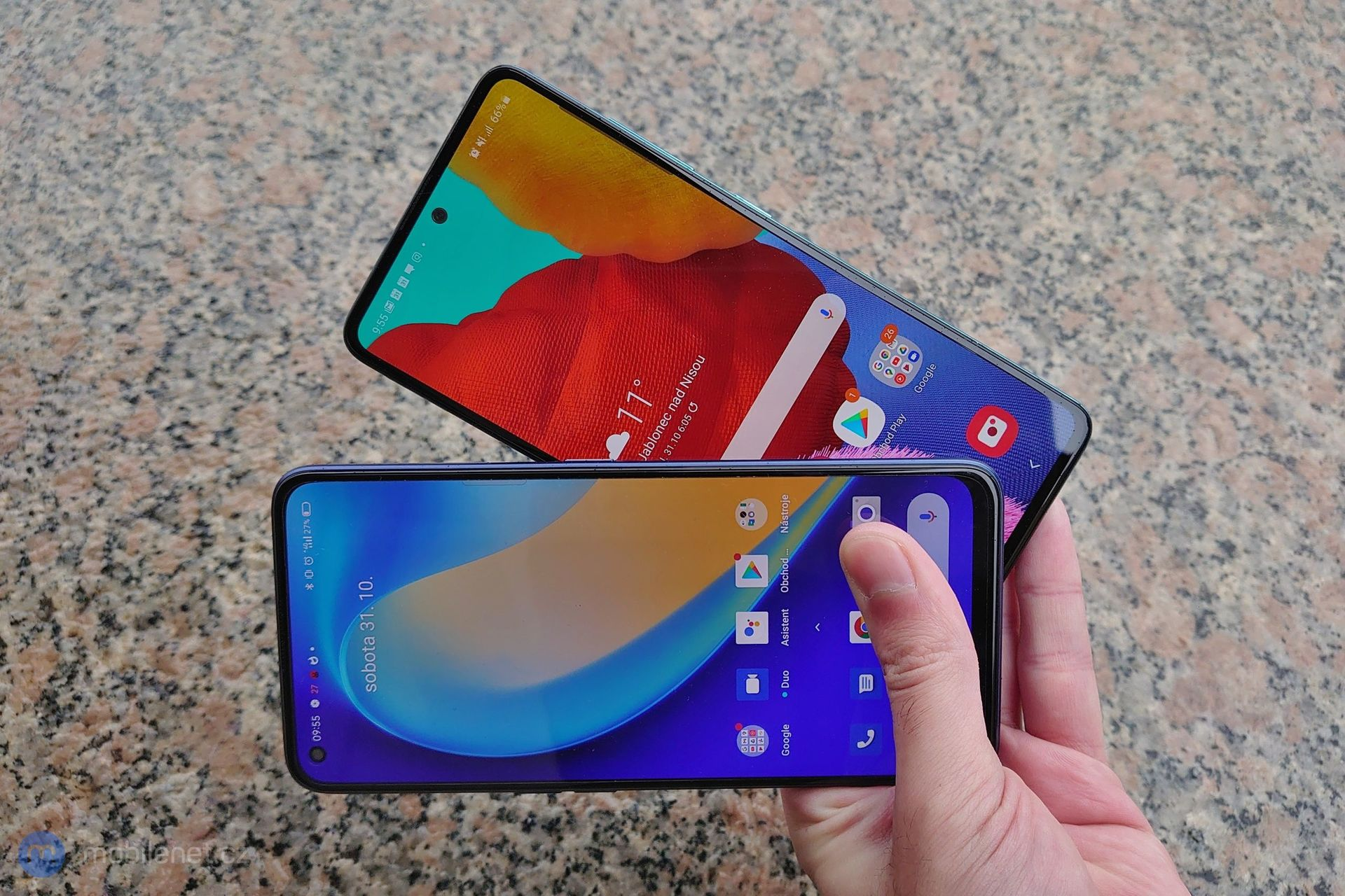 Samsung Galaxy A51 a Realme 7 Pro