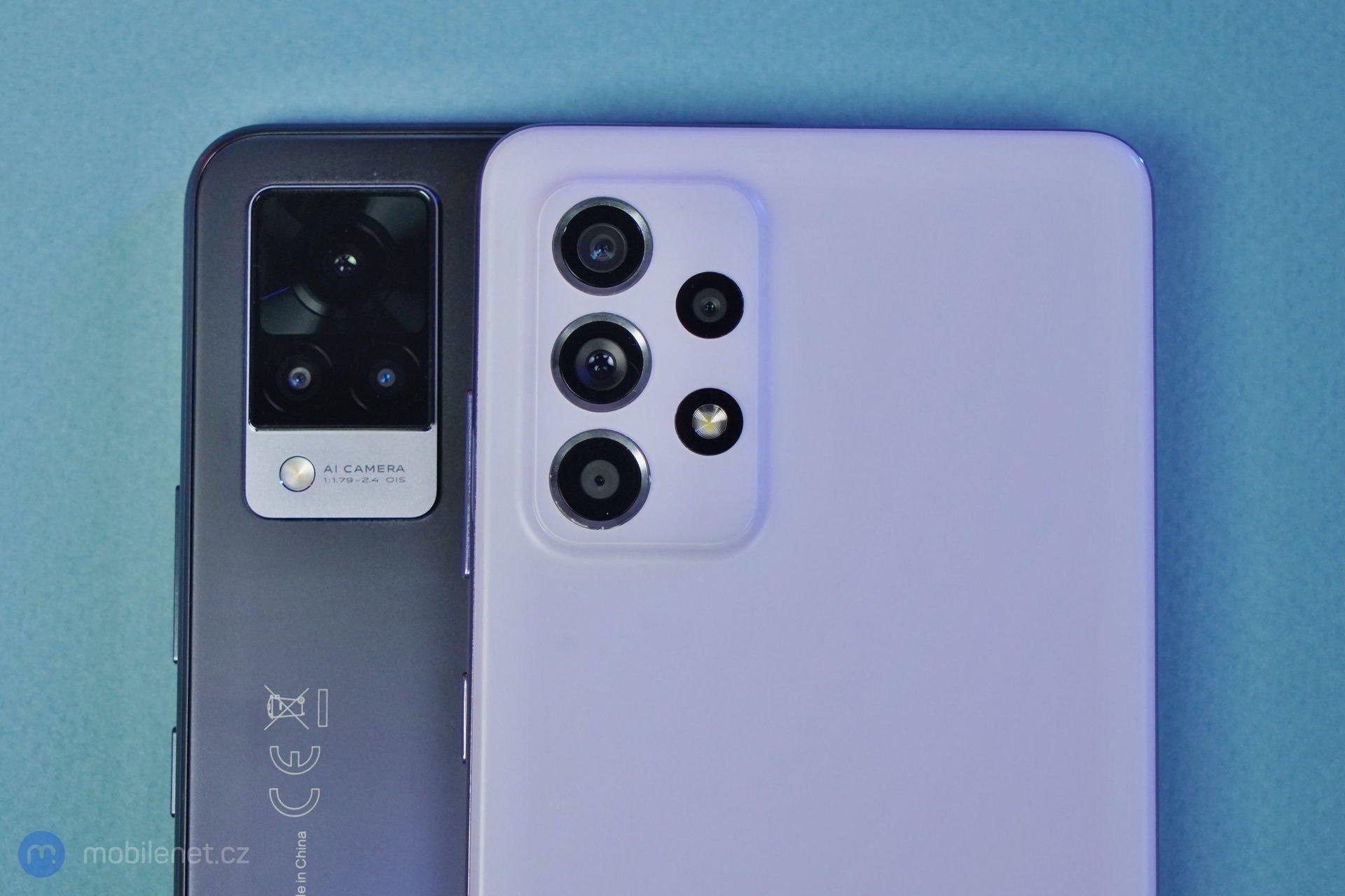 Samsung Galaxy A52 5G a Vivo V21 5G