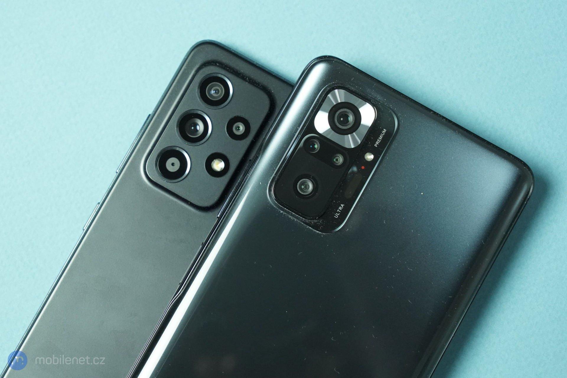 Samsung Galaxy A52 a Redmi Note 10 Pro