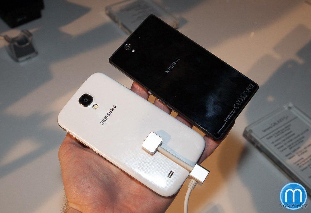 Samsung Galaxy S 4 a Sony Xperia Z