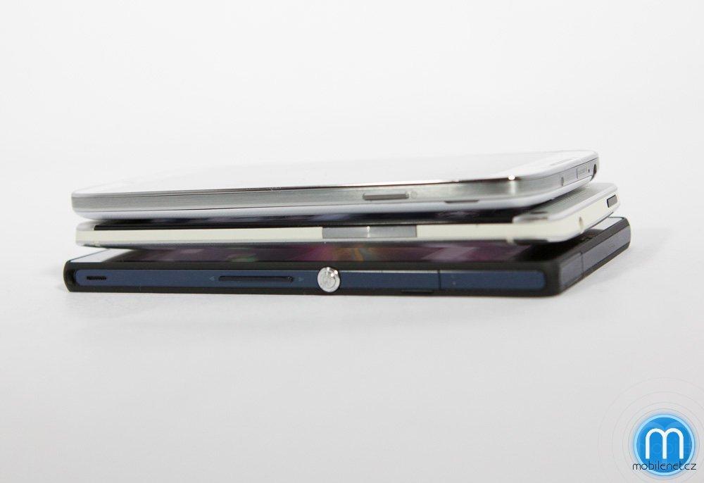 Samsung Galaxy S4, HTC One a Sony Xperia Z