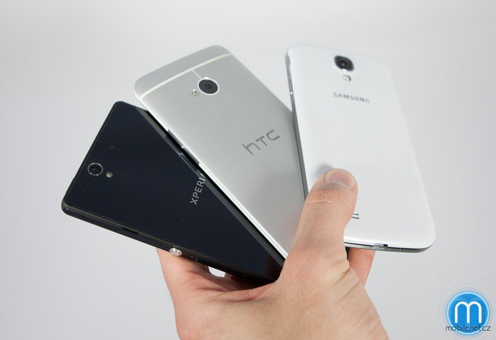 Samsung Galaxy S4, HTC One a Sony Xperia Z