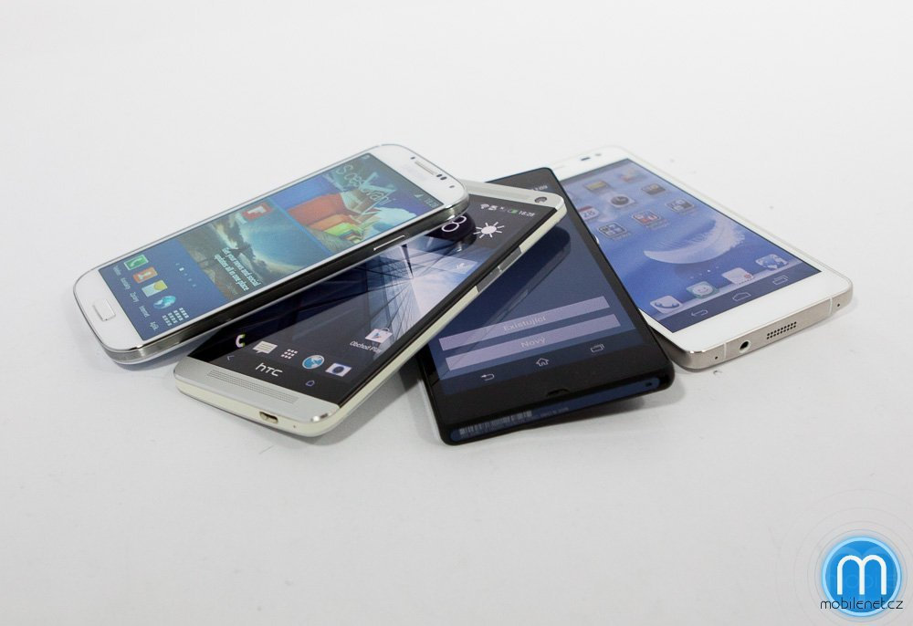 Samsung Galaxy S4, HTC One, Sony Xperia Z, Huawei Ascend D2