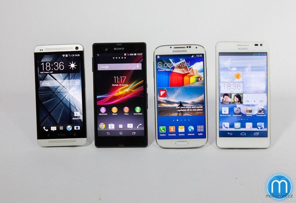 Samsung Galaxy S4, HTC One, Sony Xperia Z, Huawei Ascend D2