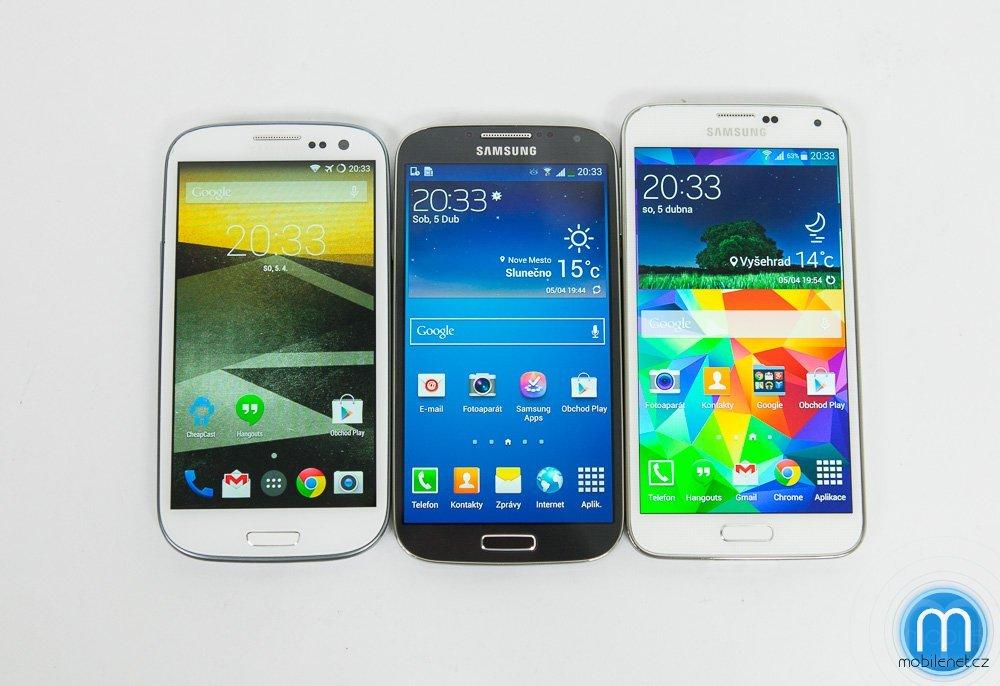 Samsung Galaxy S5 vs. Galaxy S4 vs. Galaxy S III