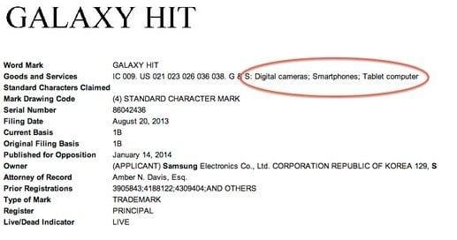 Samsung má Galaxy Hit zaregistrovaný jako obchodní známku