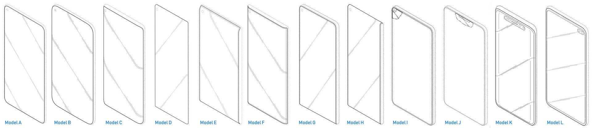 Samsung patent druhy výřezů