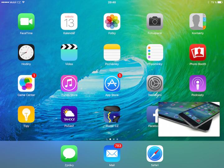 Screen iOS 9 iPad