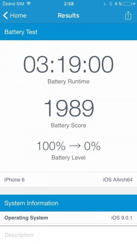 screenshot Apple iPhone 6s