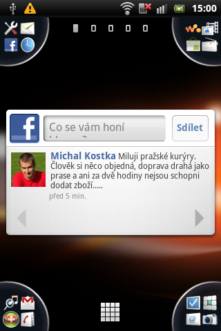 Sony Ericsson Live with Walkman - Facebook widget