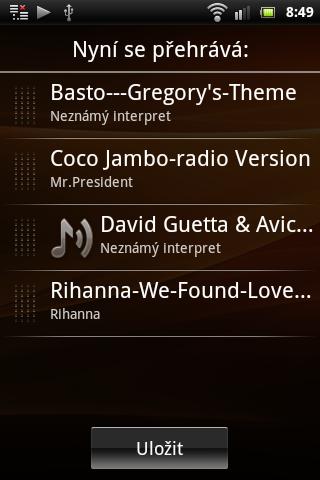 Sony Ericsson Live with Walkman - hudební přehrávač