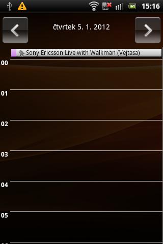 Sony Ericsson Live with Walkman - kalendář