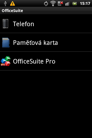 Sony Ericsson Live with Walkman - office suite