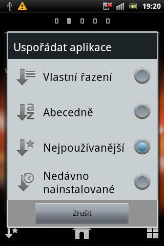 Sony Ericsson Live with Walkman - srceenshoty displeje
