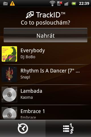 Sony Ericsson Live with Walkman - TrackID