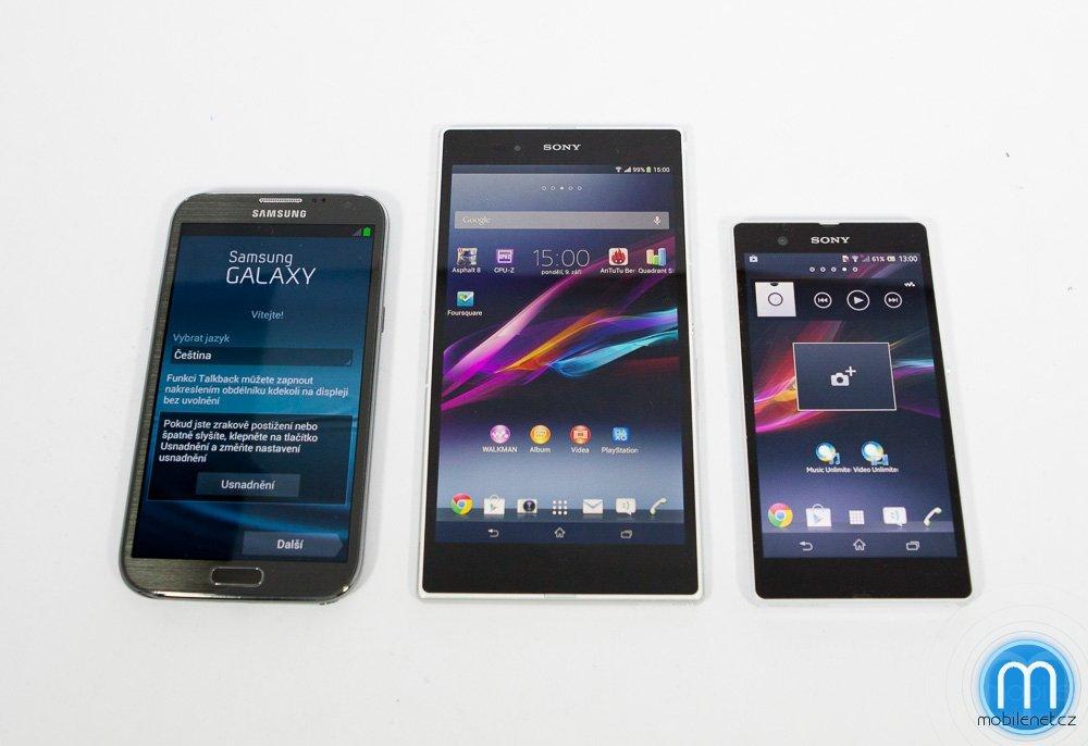 Sony Xperia Z Ultra vs. Xperia Z vs. Samsung Galaxy Note II
