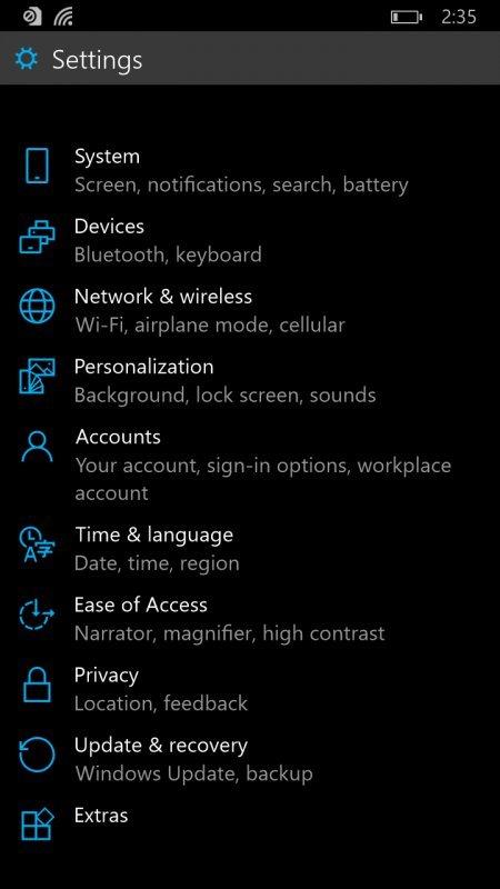 Windows 10 pro telefony