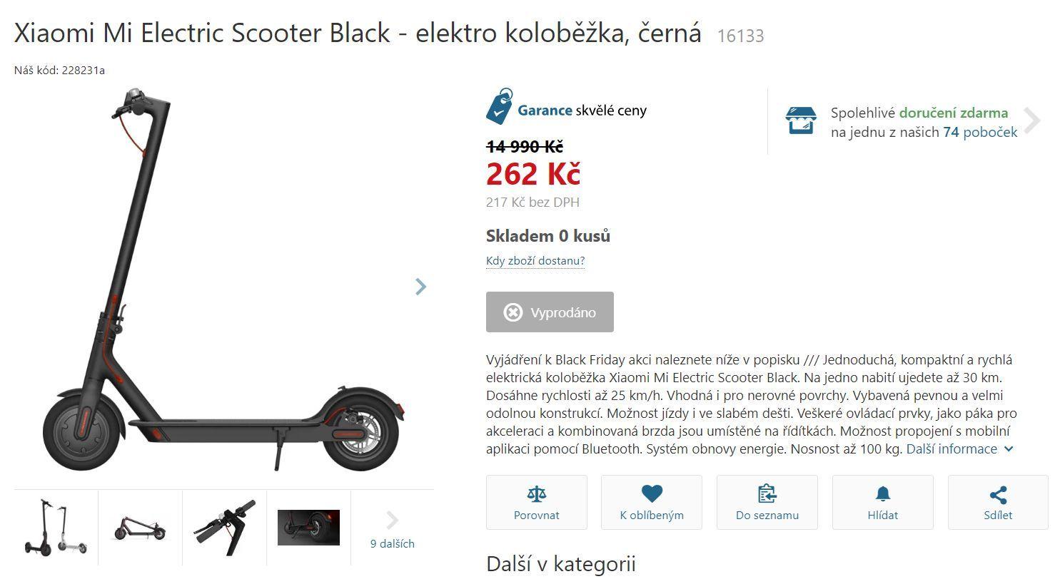 Xiaomi Mi Electric Scooter CZC.cz Black Friday