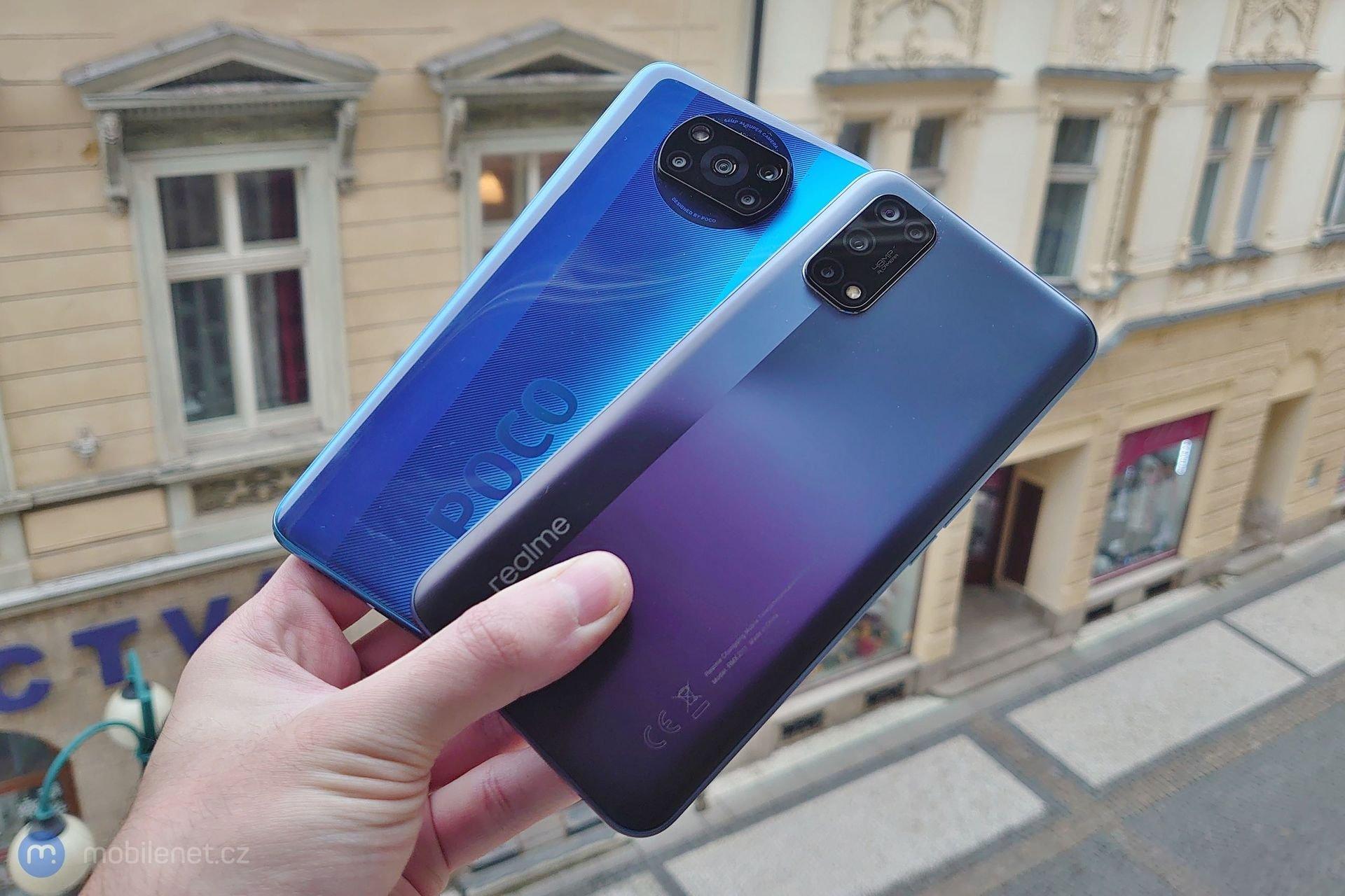 Xiaomi Poco X3 NFC a Realme 7 5G