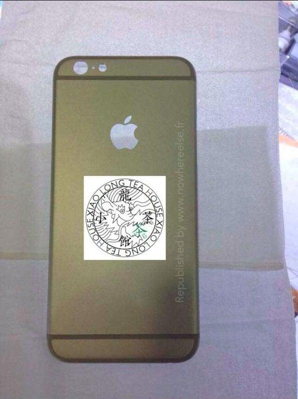 zadní strana šasi údajného iPhonu 6
