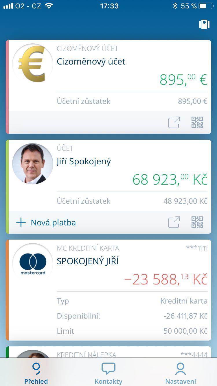 George mobilní bankovnictví
