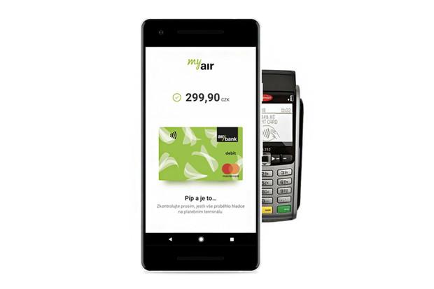 Také Air Bank zpřístupnila platby mobilem, stačí Android a NFC