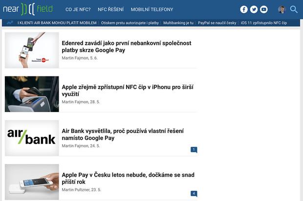 Spouštíme novou a přehlednější podobu úvodní stránky nearfield.cz