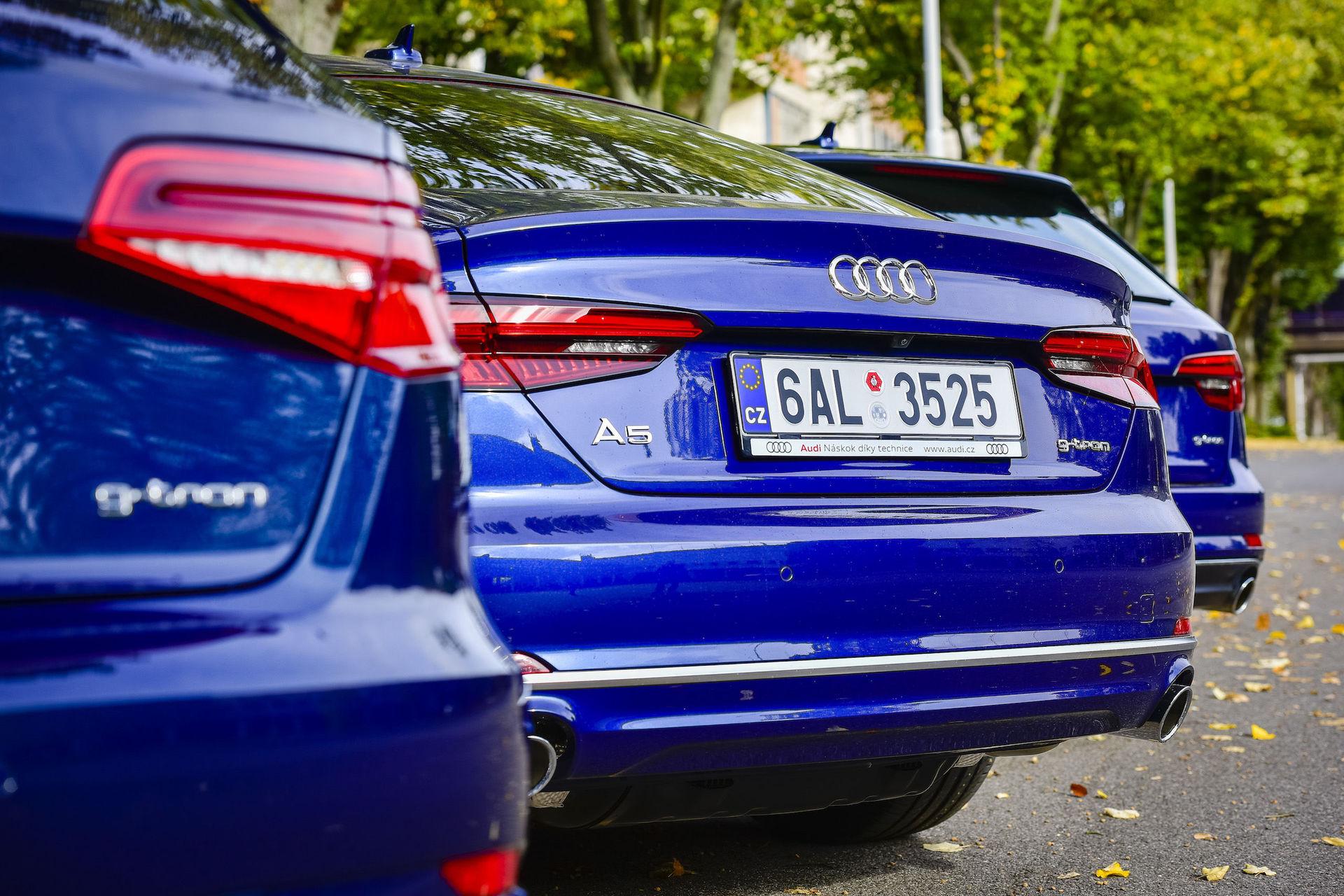 Audi A3, A4 a A5 g-tron