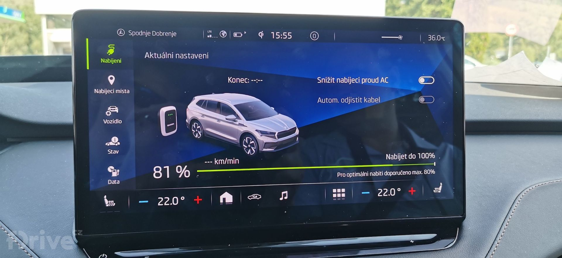 Cesta do Chorvatska - Škoda Enyaq iV