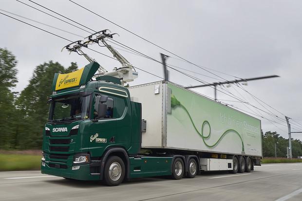 """Scania podporuje projekt """"Nákladní vozidla pro německé elektrifikované dálnice"""""""