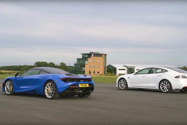 McLaren 720S versus Tesla Model S P100D ve sprintu. Kdo první proťal cílovou pásku?