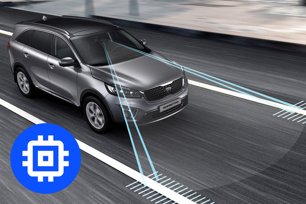 Technologie v autech: systém udržování v jízdním pruhu