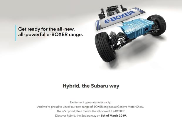 Subaru údajně v Ženevě ukáže dva elektrifikované modely